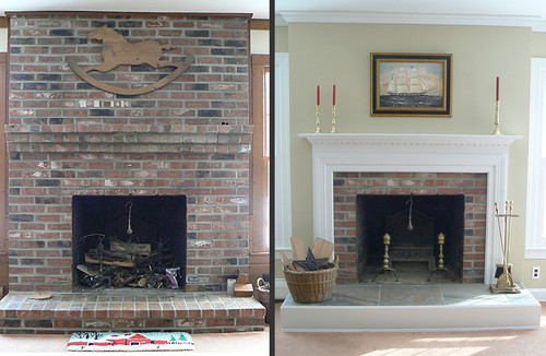 Image Result For Painted Brick Fireplace Ideas