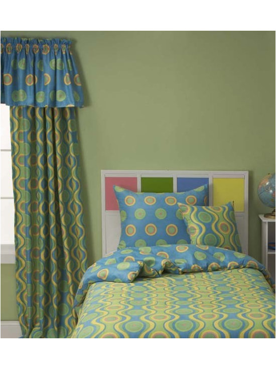 Whimsy Contemporary Youth Bedding Set By SIS Covers - Whimsy youth bedding is printed on a super-soft 100% polyester machine washable microsuede.