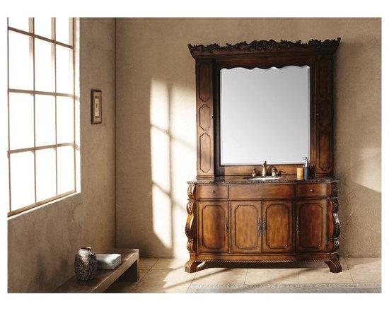 "James Martin - James Martin 60"" Faline Bathroom Vanity & Hutch Mirror - HomeThangs.com -"