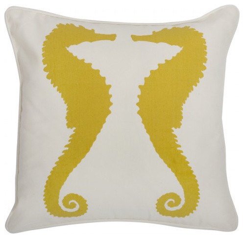 Seahorse in Sunflower Indoor Outdoor 18 eclectic pillows