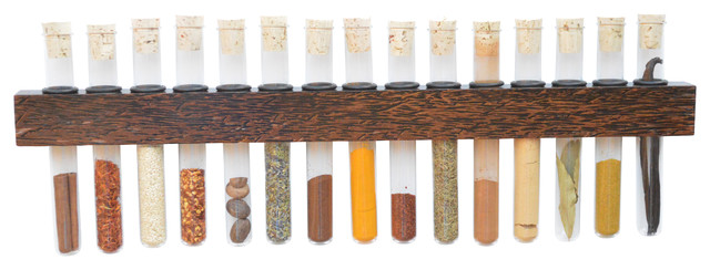 Black Palm Test Tube Spice Rack Tropical Food