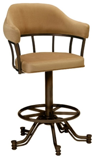 Tempo Lodge 30 In Tilt Swivel Bar Stool With Arms