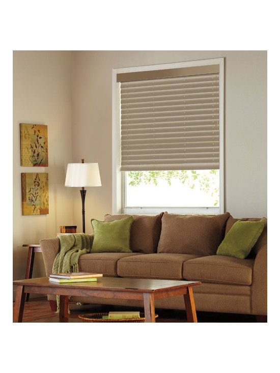 """Levolor - Levolor 2 1/2-inch Custom Textured Blinds: Plaza - Levolor custom textured vinyl blinds: Plaza feature 2 1/2"""" textured slats with durable hardware for reliable operation and minimal light leakage.  Plaza style offers a vinyl slat with a vertical textured raised lines"""