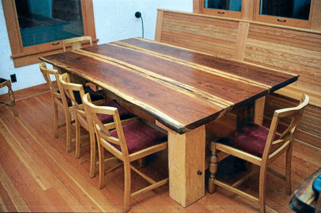 Superior Redwood Plank Dining Table Dining Tables Seattle By