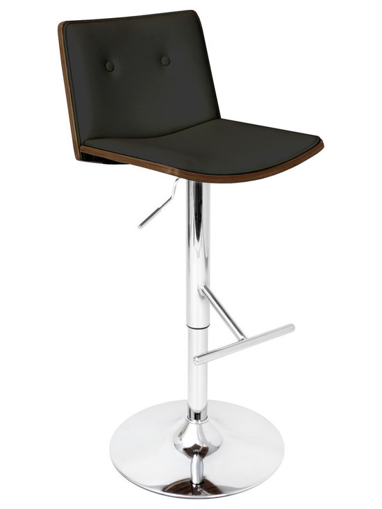 Lustra Bar Stool - BLACK