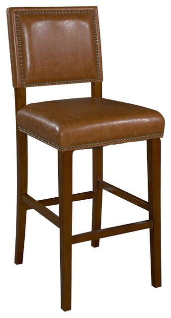 Linon Brook Caramel Bar Stool, Brown transitional-bar-stools-and-counter-stools