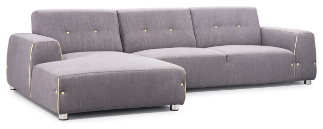 Linkoping Sectional RHF Slate Gray Body Lime Detail contemporary-sectional-sofas