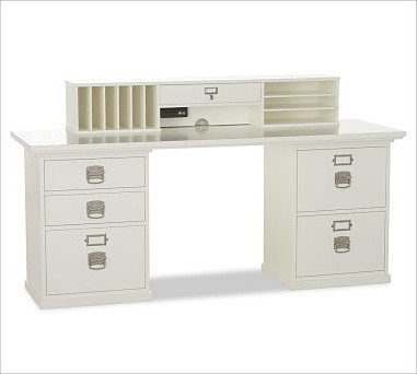 Bedford Smart Technology(TM) Desk Hutch, Antique White - Traditional ...