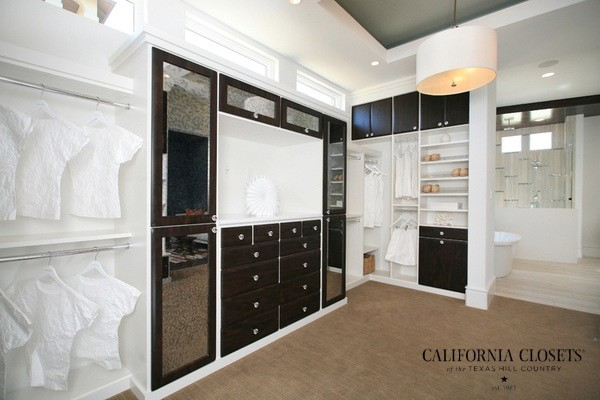 Master Bath & Suite contemporary-closet
