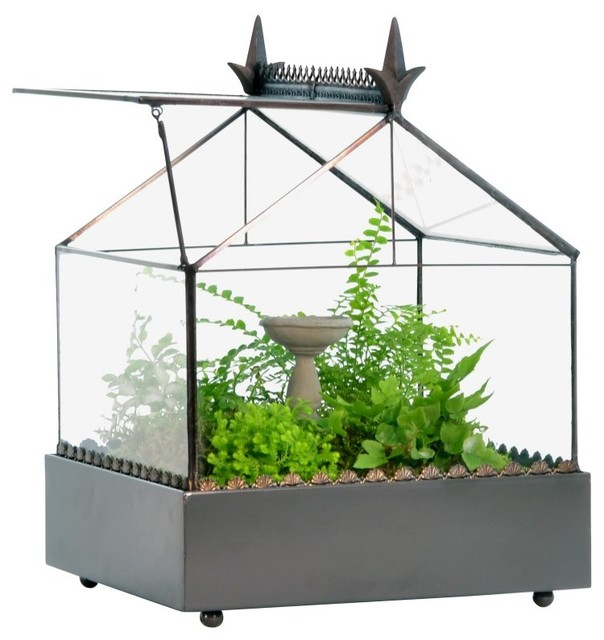 H. Potter English Greenhouse Terrarium with Door - WAR154 - Contemporary - Greenhouses - by ...