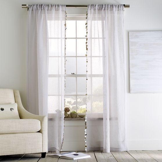 Capiz window panel modern cellular shades by west elm for West elm window treatments