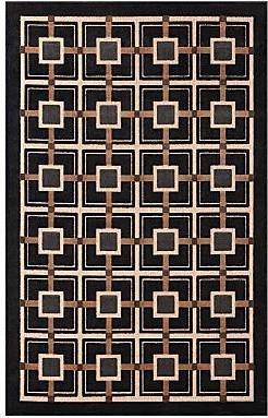 Squares Rug 5'x8' contemporary-doormats