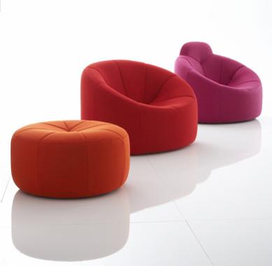 pumpkin by pierre paulin ligne roset eclectic living. Black Bedroom Furniture Sets. Home Design Ideas