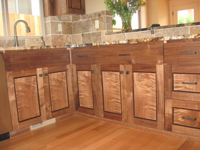 Figured Walnut Cabinets Portland Oregon Traditional Kitchen Cabinets