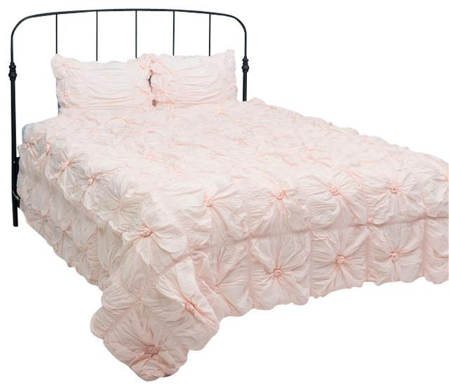 plush dreams lt pink twin size comforter bed set contemporary duvet covers and duvet sets. Black Bedroom Furniture Sets. Home Design Ideas