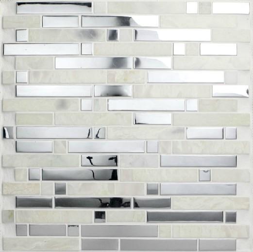 stainless steel mosaic tiles ssmt057 glass mosaic tile backsplash