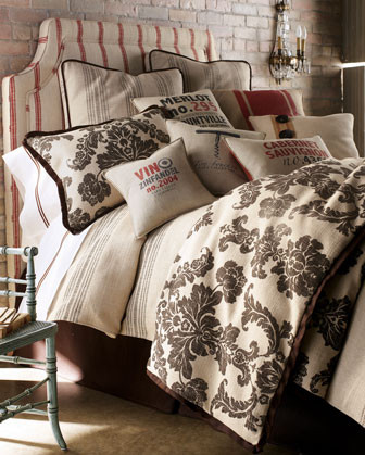 Fairlane Bed Linens Damask King Duvet Cover - traditional - duvet ...