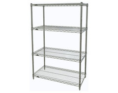 Metro Shelving Unit - 48x18x54 Chrome industrial-garage-and-tool-storage