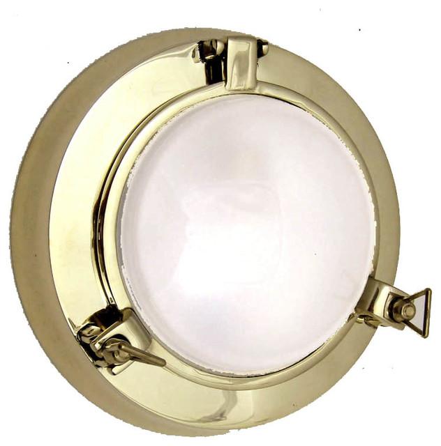Porthole Style Light by Shiplights, Solid brass/Interior ...