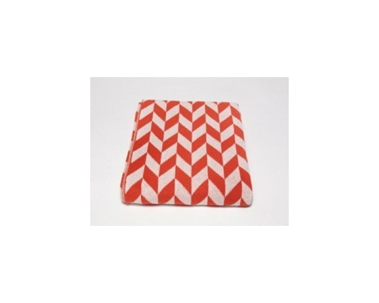 Eco Chevron Throw- Spice - This modern stripe throw blanket features a geometric pattern to add a peak of interest to your favourite space. Use this on-trend throw to accent your bedroom, living room or den. Choose from a variety of colors.