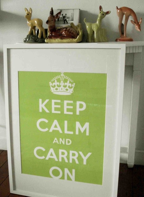 Keep Calm And Carry on Poster Chartreuse Green by sfgirlbybay eclectic artwork