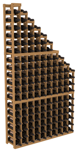 Wine Cellar Waterfall Display in Pine, Oak contemporary-wine-racks