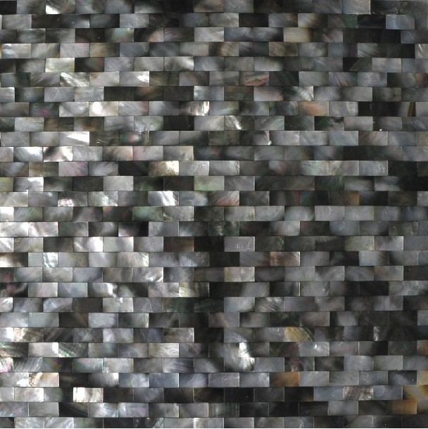 Mother of pearl tile backsplash black shell mosaic bathroom tiles MOP021 contemporary-tile