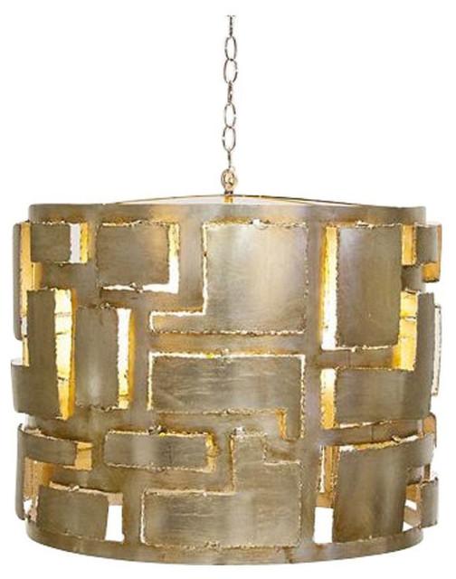 Brutalist Style Pendant Chandelier - $800 Est. Retail - $650 on Chairish.com contemporary-pendant-lighting