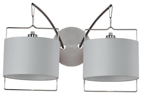 Passion  Wall Sconce in Satin Nickel/Polished Chrome modern-wall-lighting