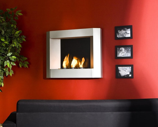 """Holly & Martin™ Hallston Wall Mount Fireplace - Dimensions: 29.5"""" W x 6"""" D x 24"""" H"""