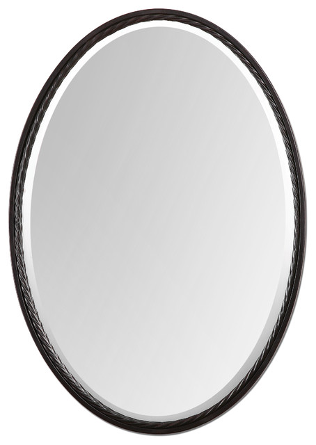 Casalina Oil Rubbed Bronze Oval Mirror Traditional