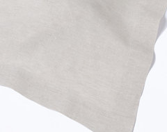"""Natural Undyed Linen Tablecloth, 108"""" Round contemporary-tablecloths"""
