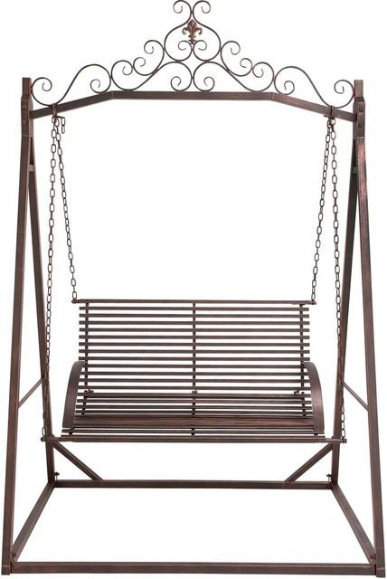 the cool metal garden swing modern porch swings