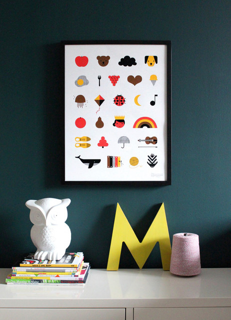 A to Z poster modern nursery decor