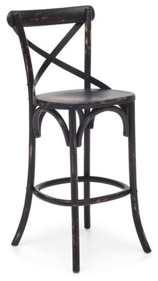 Union Square Bar Chair, Black traditional-bar-stools-and-counter-stools