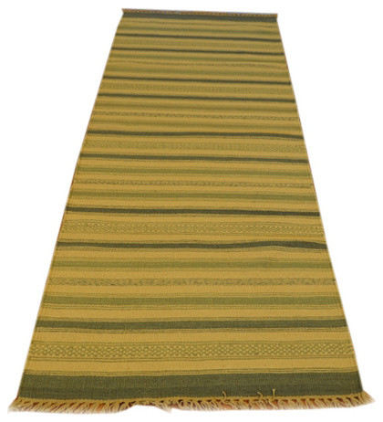Hand Woven Striped Durie Kilim Flat Weave Runner Sh3555 transitional-area-rugs