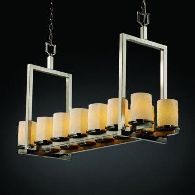 Justice Design Group Limoges POR-8769-10-BANL-NCKL Dakota 14-Light Bridge Chande modern-chandeliers