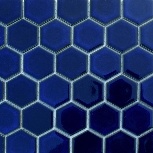 Glazed Hexagons Cobalt Hexagon - Traditional - Wall And Floor Tile - by BuyTile