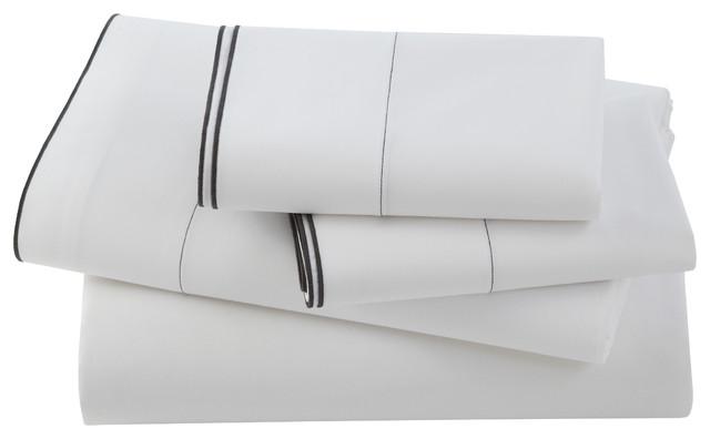 Kassatex Fiesole Pillowcase Set, Charcoal contemporary-pillowcases-and-shams