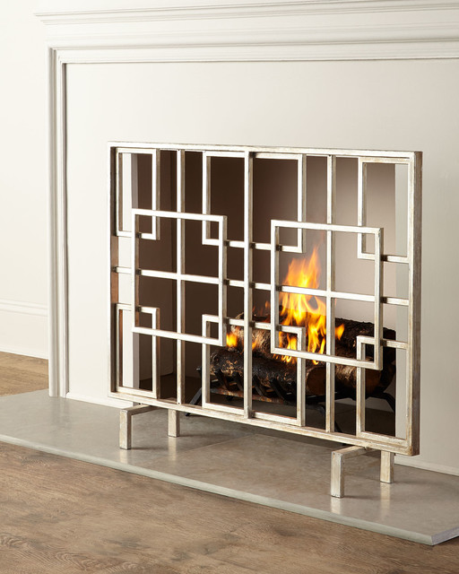 Dominic fireplace screen fireplace screens by horchow - Houzz fireplace screens ...
