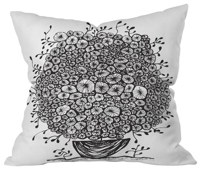 Julia Da Rocha Bouquet Of Flowers 1 Throw Pillow, 18x18x5 contemporary-decorative-pillows