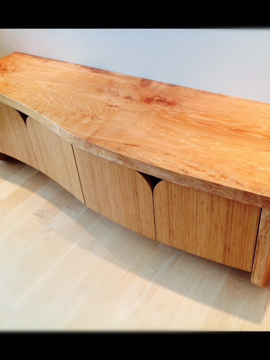 Brett Marlo Design Build - Raft Island residence - This bench was designed with this client and the location in mind. We were inspired by Salish art, the waterfront location, doors we found to up cycle and wood we selected from the local mill.