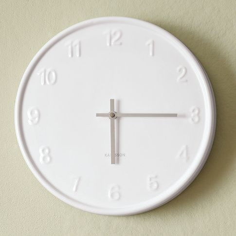 White wall clock modern clocks by west elm Modern clocks for kitchen