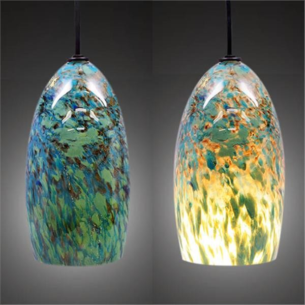 Limited Edition Lemuria Hand Blown Glass Pendant Light