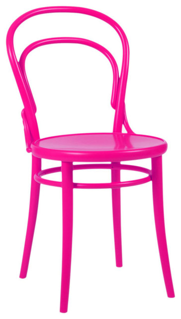 Thonet chair in hot pink eclectic dining chairs by for Chaise bistrot thonet