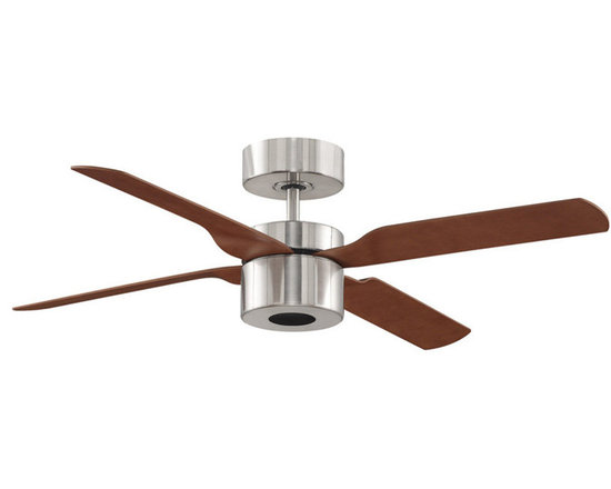 """Fanimation - Fanimation FP8008BN Brushed Nickel with Cherry / Walnut Blades - Features:Includes 4 Reversible Cherry / Walnut Composite BladesIncludes Integrated Light Kit with Opal Frosted GlassIncludes CLR8TS Touch Screen Remote with 3 Speeds Forward / ReverseComposite Blades Display Both Elegance and DurabilityCovered Under Lifetime WarrantyFixture Cap Included for When Light is Not in UseDownrod(s) Included for Ease of InstallationSuitable for Dry LocationFan can be assembled in 2, 3, or 4 blade configuration with easeBlade Specifications:Number of Blades: 2Blade Span: 52""""Blades Included: YesBlade Pitch: 14 Degrees (The Angle of Attack of the Blades; Steeper Blades Move More Air)Light Kit Specifications:Light Kit Included: YesLight Kit Compatible: YesNumber of Bulbs: 2Bulb Base: GU24Bulb Type: Compact FluorescentWatts Per Bulb: 18Bulb Included: YesLight Direction: Down LightingAir Flow Specifications:Motor Size: 172mm x 18mmSpeeds: 3CFM (High): 3 (The Volume of Air Moved by the Fan in Cubic Feet Per Minute)Airflow Efficiency: 97 (Cubic Feet Per Watt on High (Volume of Air Moved Per Watt of Energy Used)Other Product Specifications:Control Type: Remote (included)Overall Height: 17"""" (The Distance from the Bottom of the Fixture to the Ceiling)Downrod(s) Included: YesDownrod Size(s): 6""""Energy Star: YesVoltage: 110Optional Accessories (Sold Separately):CRL4 RemoteCWRL4 Wall Control"""