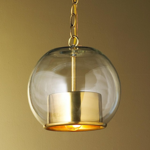 brass cap and globe pendant pendant lighting by shades of light. Black Bedroom Furniture Sets. Home Design Ideas