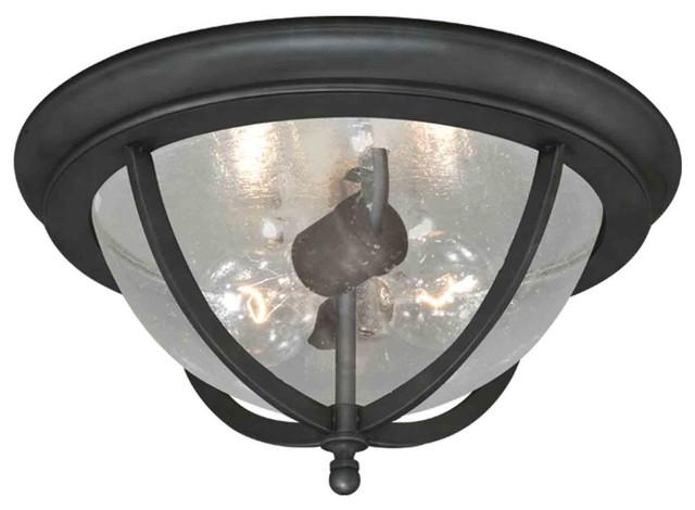 Corsica Oil Rubbed Bronze Outdoor Flush Mount traditional-outdoor-flush-mount-ceiling-lighting