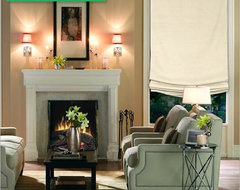 Laura Ashley Relaxed Roman Shades traditional-roman-shades