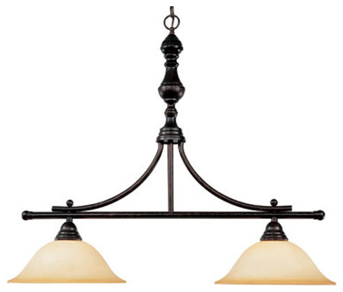 Sutton Place Two-Light Island Pendant traditional-pendant-lighting
